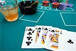 Betting table with cards on drink Stock Photo - Premium Royalty-Free, Artist: Ron Fehling, Code: 604-01570218