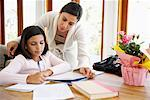 Mother Helping Daughter with Homework    Stock Photo - Premium Rights-Managed, Artist: Mark Leibowitz, Code: 700-01572103