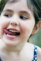 Girl Making Faces    Stock Photo - Premium Rights-Managednull, Code: 700-01575532
