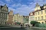 Poland, Wroclaw, market place Stock Photo - Premium Royalty-Free, Artist: Raimund Linke, Code: 610-01576989