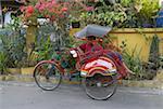 Indonesia, Java, Yogyakarta, Kraton district, rickshaw