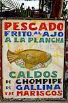 Guatemala, Panajachel, restaurant sign