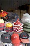 China, near Beijing, Mu Tian Yu, the Great Wall, hats for sale