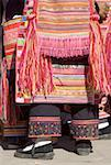 China, Yunnan, Lancang, close-up of traditional Lahu costume