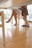 preteen thong - View of People's Legs Under Table    Stock Photo - Premium Royalty-Freenull, Code: 600-01582267