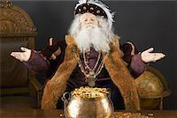 King With His Treasure    Stock Photo - Premium Rights-Managednull, Code: 700-01582217
