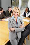 Portrait of Businesswoman in Boardroom    Stock Photo - Premium Rights-Managed, Artist: Artiga Photo, Code: 700-01582276