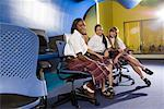 Portrait of three teenage girl students wearing uniforms in a classroom Stock Photo - Premium Royalty-Free, Artist: Brian Pieters, Code: 638-01584690