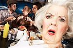 Eccentric Woman in Diner    Stock Photo - Premium Rights-Managed, Artist: Brian Kuhlmann, Code: 700-01585936