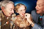 People Goofing Around in Diner    Stock Photo - Premium Rights-Managed, Artist: Brian Kuhlmann, Code: 700-01585937