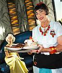 Waitress Serving Food to Woman    Stock Photo - Premium Rights-Managed, Artist: Brian Kuhlmann, Code: 700-01585944