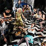 Chaotic Scene in Diner    Stock Photo - Premium Rights-Managed, Artist: Brian Kuhlmann, Code: 700-01585951