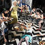 Chaotic Scene in Diner    Stock Photo - Premium Rights-Managed, Artist: Brian Kuhlmann, Code: 700-01585953