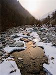 Icy Stream, Qinling Mountains, Shaanxi Province, China    Stock Photo - Premium Rights-Managed, Artist: Jeremy Woodhouse, Code: 700-01585989