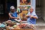 Men at Market, Cartagena, Columbia    Stock Photo - Premium Rights-Managed, Artist: Jeremy Woodhouse, Code: 700-01586951