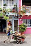 Man Selling Produce, Cartagena, Columbia