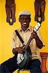 Portrait of Banjo Player, Casco Viejo, Panama City, Panama