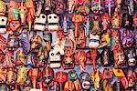Wooden Masks at Market, Guatemala