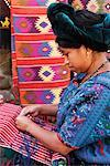 Portrait of Woman Weaving, Guatemala