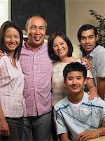 southeast asian - Portrait of Family    Stock Photo - Premium Royalty-Freenull, Code: 600-01593562