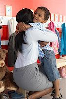 Mother and Son at Daycare    Stock Photo - Prem