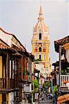 Street Scene and Cathedral, Colombia    Stock Photo - Premium Royalty-Free, Artist: Jeremy Woodhouse, Code: 600-01593967