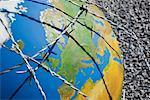 A globe entangled in barbed wire Stock Photo - Premium Royalty-Free, Artist: IIC, Code: 635-01594294
