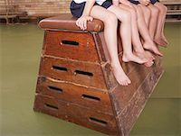 Legs of students in gym class Stock Photo - Premium Royalty-Freenull, Code: 635-01594923