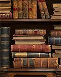 Antique Books on Bookshelf    Stock Photo - Premium Rights-Managed, Artist: Nora Good, Code: 700-01595869
