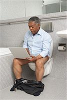 Man in the Washroom    Stock Photo - Premium Royalty-Freenull, Code: 600-01604081