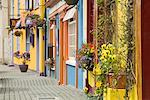Storefronts and Sidewalk, Kinsale, Ireland