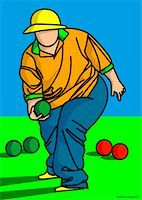 fat man balls - Illustration of Person Playing Bocce    Stock Photo - Premium Royalty-Freenull, Code: 600-01607227