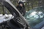 Woman with Broken Down Vehicle