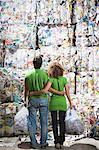 Man and woman at a recycling plant. Stock Photo - Premium Royalty-Free, Artist: Arcaid, Code: 649-01608519