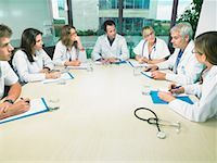 Group of doctors meeting in conference room. Stock Photo - Premium Royalty-Freenull, Code: 649-01608854