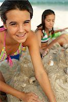 Portrait of Girl on Beach    Stock Photo - Premium Royalty-Freenull, Code: 600-01614221