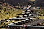 Geothermal Power Station and Pipeline, Iceland