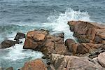 Waves Hitting Rocks, Cape Breton, Nova Scotia, Canada    Stock Photo - Premium Rights-Managed, Artist: dk & dennie cody, Code: 700-01614403