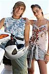 Teenagers by Moped    Stock Photo - Premium Royalty-Free, Artist: Masterfile, Code: 600-01616480