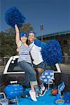 Cheering fan women Stock Photo - Premium Royalty-Freenull, Code: 621-01618929