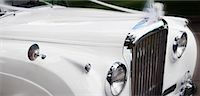 Close-up of Car Decorated For Wedding    Stock Photo - Premium Royalty-Freenull, Code: 600-01630179