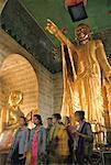 People in Buddhist Temple, Mandalay, Myanmar    Stock Photo - Premium Rights-Managed, Artist: Mark Downey, Code: 700-01630110