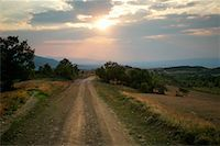 road landscape - Country dirt road Stock Photo - Premium Royalty-Freenull, Code: 644-01630775