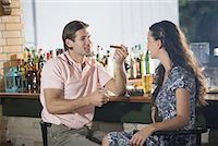 Couple in a bar Stock Photo - Premium Royalty-Freenull, Code: 644-01631499