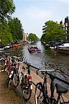 Canal, Amsterdam, Netherlands    Stock Photo - Premium Rights-Managed, Artist: Graham French, Code: 700-01632740