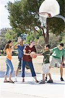 preteen thong - Family Playing Basketball    Stock Photo - Premium Rights-Managednull, Code: 700-01633021
