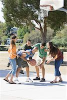 preteen thong - Family Playing Basketball    Stock Photo - Premium Rights-Managednull, Code: 700-01633022