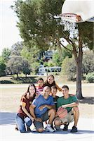 preteen thong - Portrait of Family on Basketball Court    Stock Photo - Premium Rights-Managednull, Code: 700-01633024