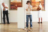 Child Breaking Art in Gallery    Stock Photo - Premium Rights-Managednull, Code: 700-01639956