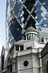 Building with The Gherkin in Background, London, England